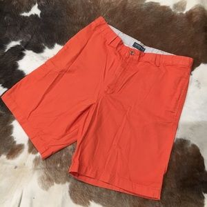 Orange shorts men's size 36.
